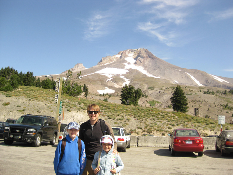 Mark and the girls, Timberline Lodge Mt. Hood