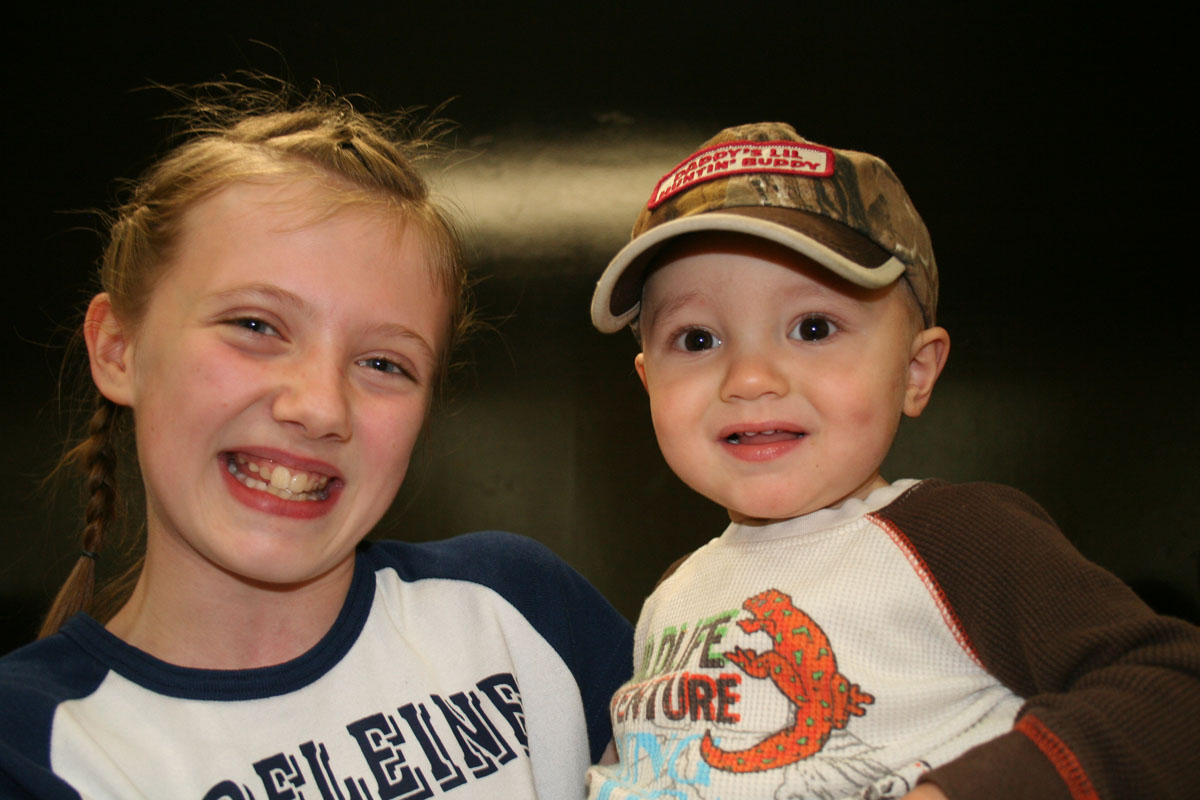 This is Claire's little brother, Ryder, who loves his big sister!  You should see his eyes light up and his dimples break out as soon as he sees her!