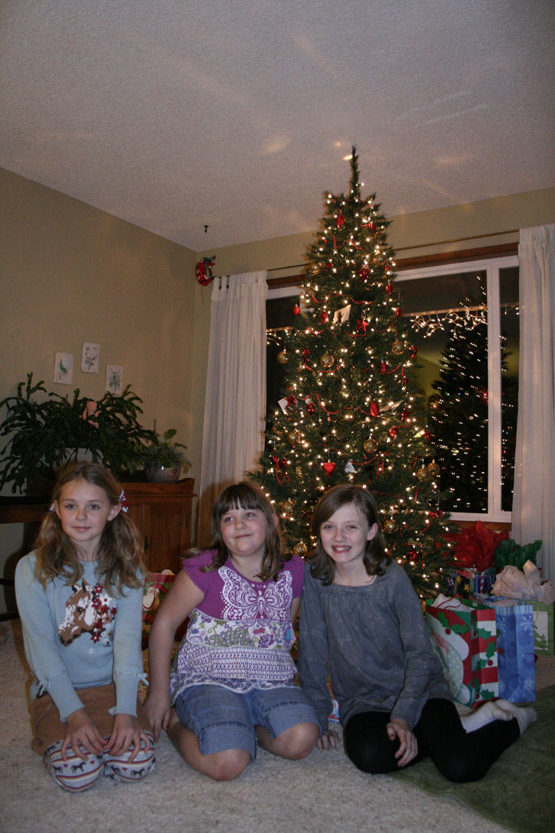 cousins: Veda (8), Gracie (6) and Claire (11)
