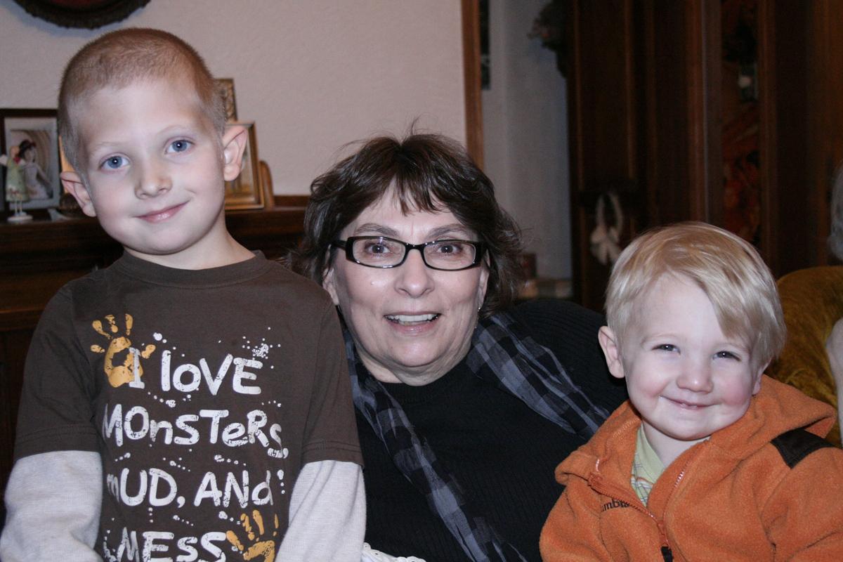 My Mom with my nephews, they are definitely Grandma's Boys.