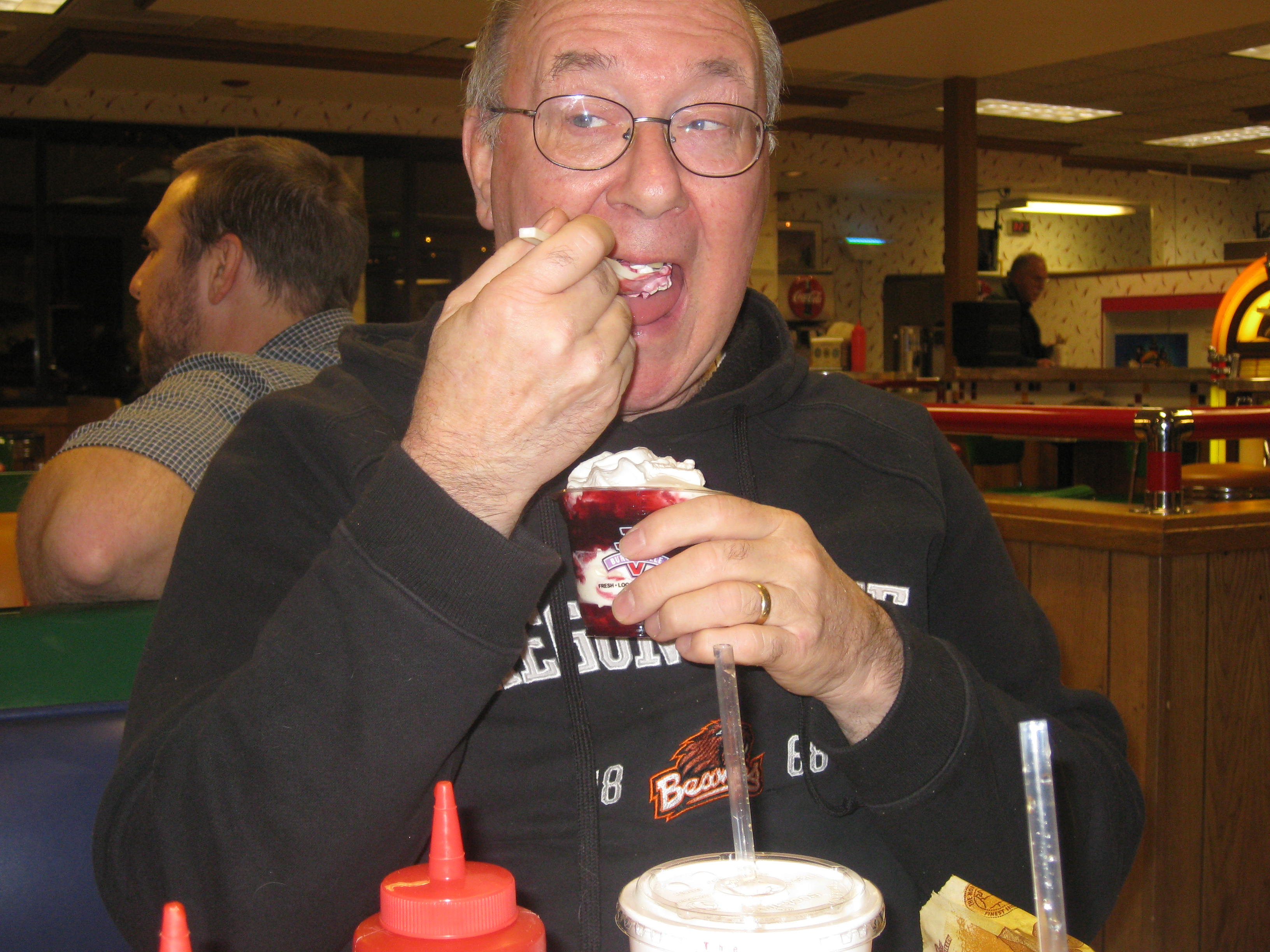 We celebrated with dinner and a sundae last Thursday!  Happy Birthday my awesome father-in-law!!  We love you!!