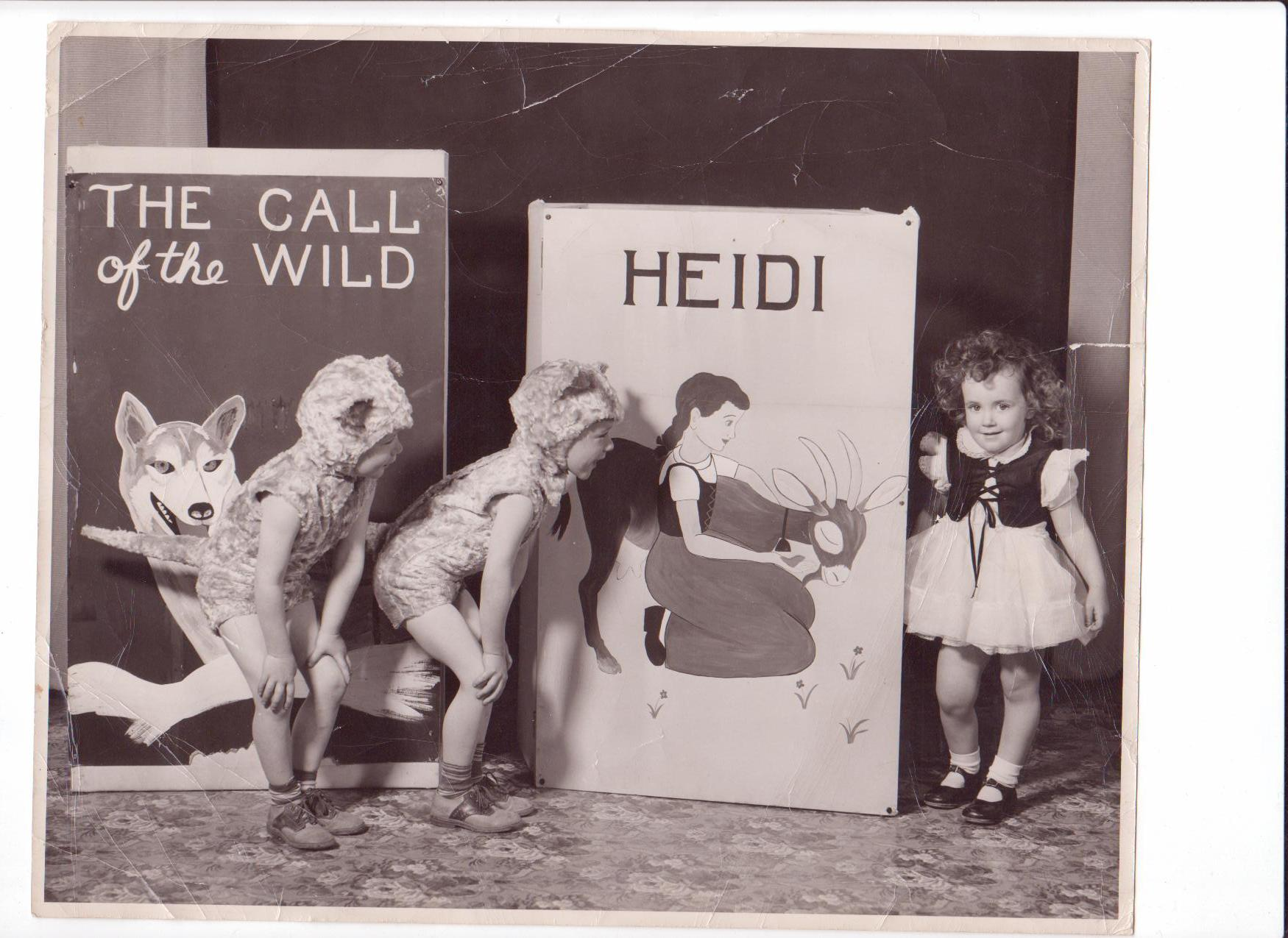 I love this photo, Bill shared this with us last summer and I just think it's the most precious thing I've ever seen!  This is Bill and Chuck when they were in an elementary school play.  I think they are foxes?  tigers?  I'm not sure, but it's cute.