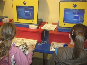 Then it was time to enter all the information in the computer so they could print out their birth certificates, the girls picked names and then promptly changed them, in the car, on the way home...