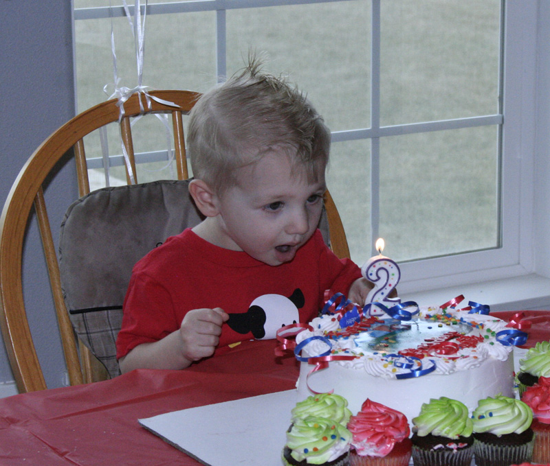 Blowing out the candle...