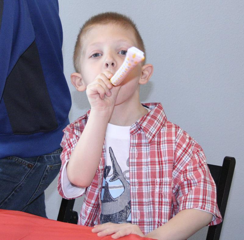 Nephew Wyatt who will turn 6 in May...
