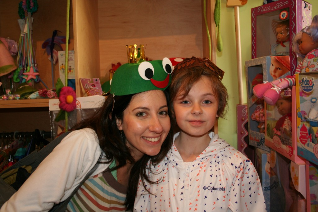 Annalisa in a frog hat!
