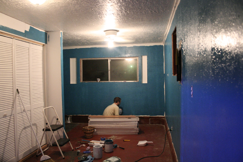 Cruising along with the first coat of color..already an improvement...