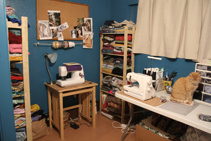 Hmmm..so perhaps it should be called the Sewing Room since who is that mister to the right there? oh... hi Napoleon, glad you approve.