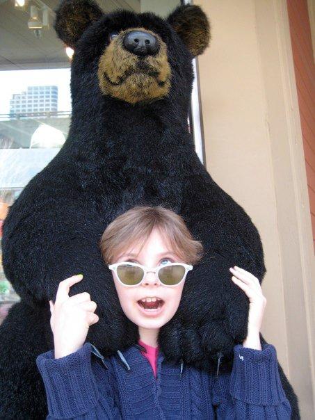 Veda get a bear hug?  hilarious!