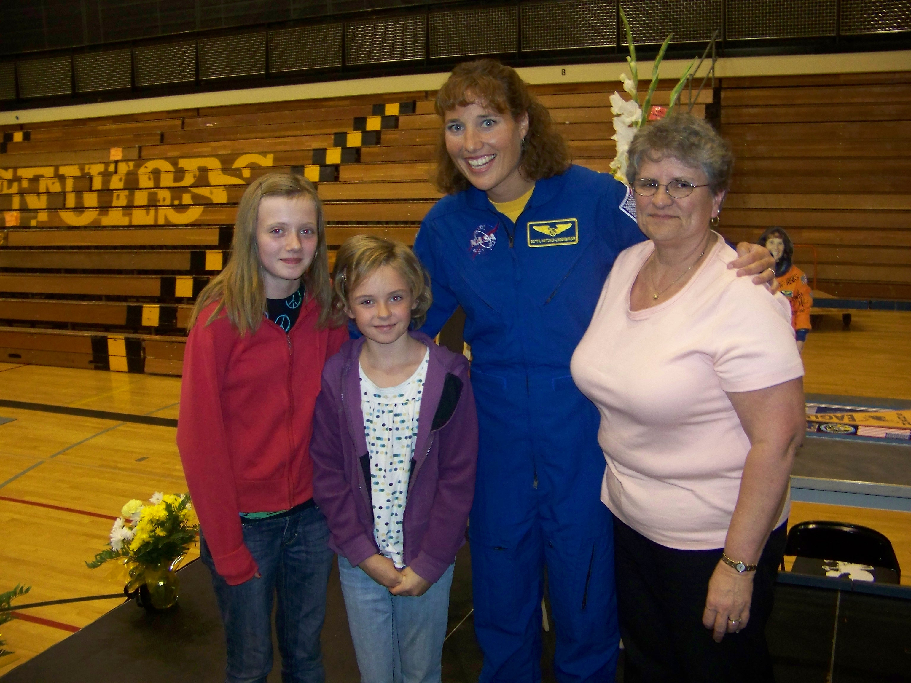 Claire, Veda, Dottie the Astronaut & Grandma Betty