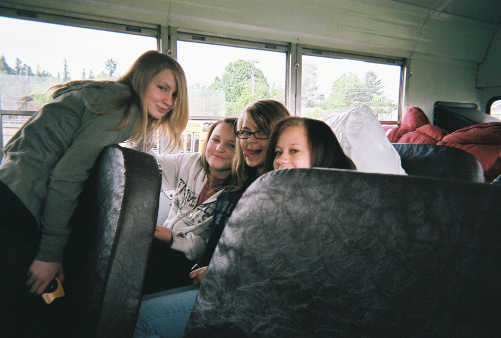 Singing on the bus!