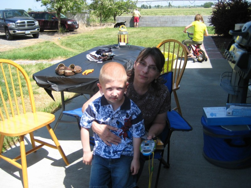 Wyatt with his Grandma Trudie, last summer...