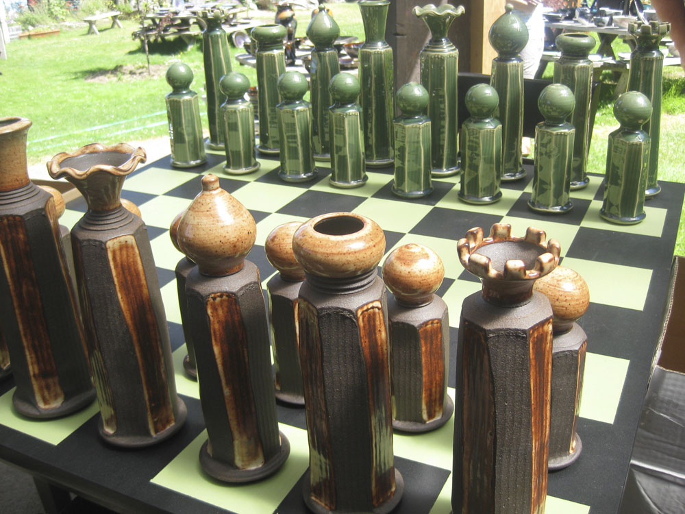 giant sized chess pieces!
