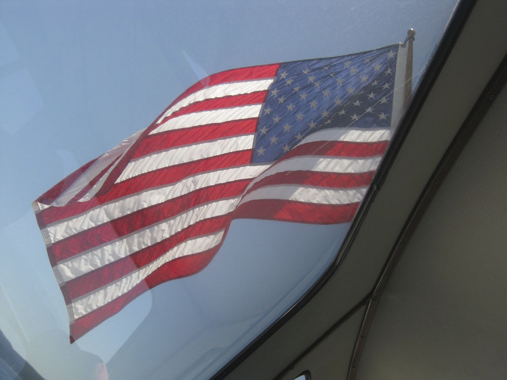 The flag on our Whale Watching boat...