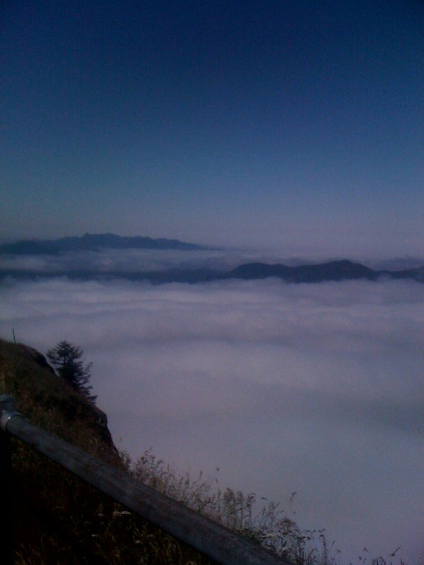 Above the clouds, the view from the top - AMAZING!